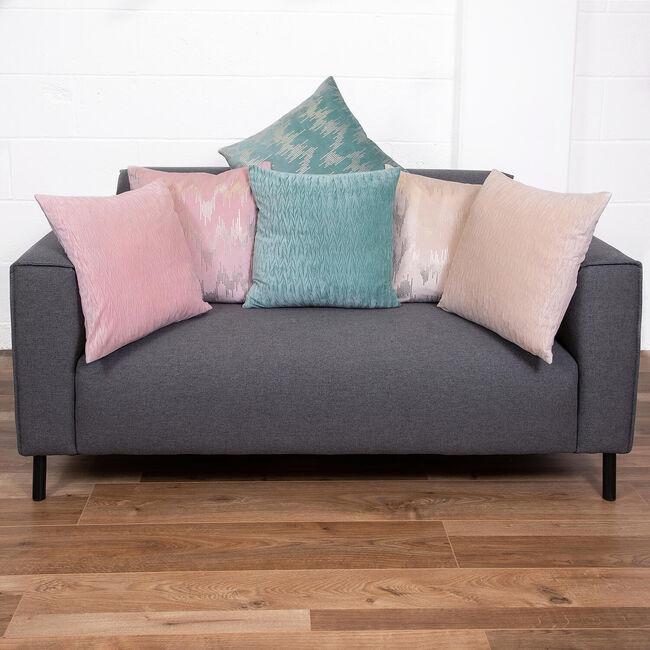 Velvet Crush Cushion 45x45cm - Ivory