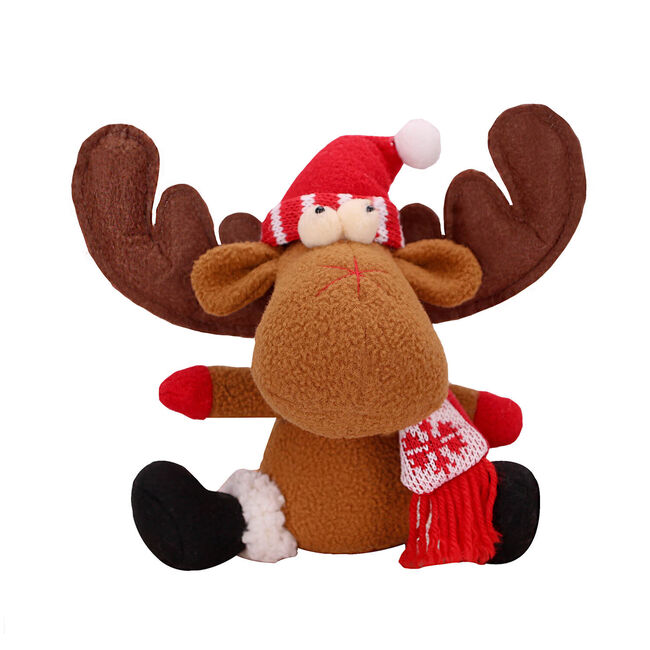 Sitting Reindeer Plush Decoration