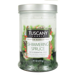 Tuscany Triple Pour Candle Shimmering Spruce 18oz