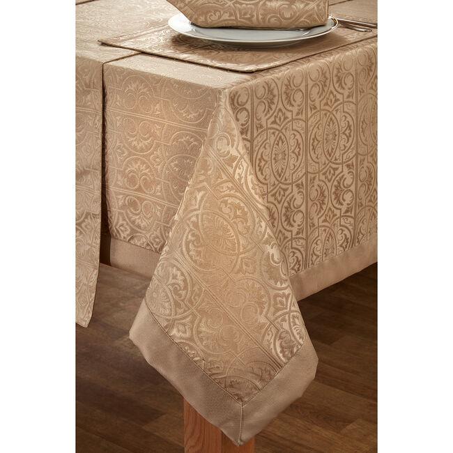 Gatsby Damask Table Cloth Gold 160 x 183cm