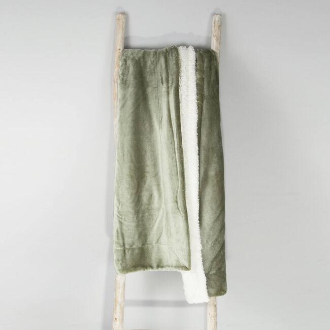 Ruane Mink Sherpa Throw 127 x 157cm - Sage