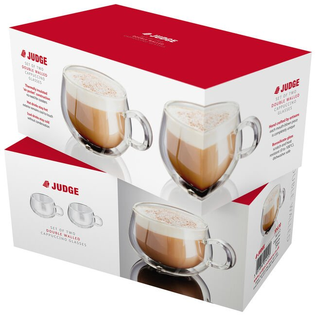 Judge 2 Double Wall Cappuccino Glass