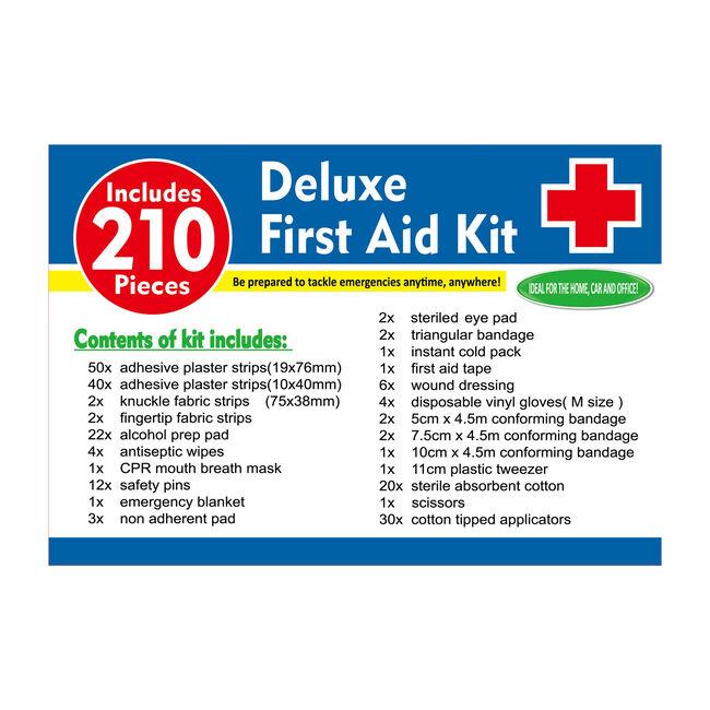 First Aid Essentials 210 Pieces