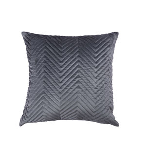 Triangle Stitch Cushion 45x45cm - Grey