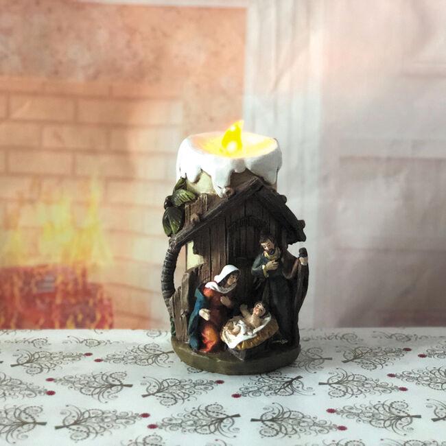 Christmas Nativity Scene Candle