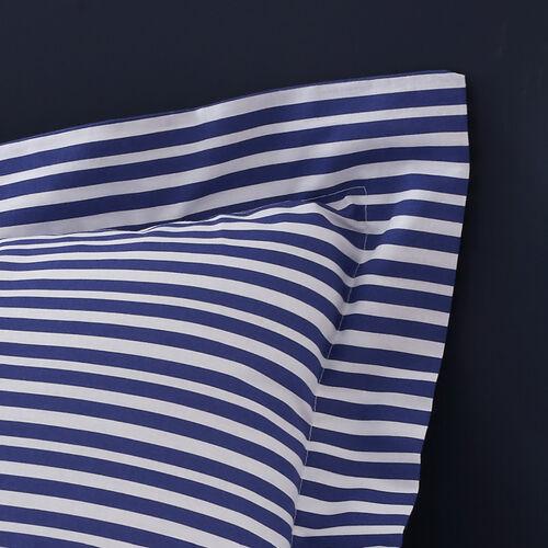 Cillian Oxford Pillowcase Pair - Blue/Orange