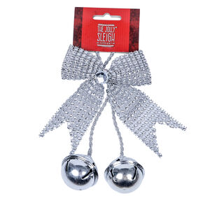 Silver Bow with Bells