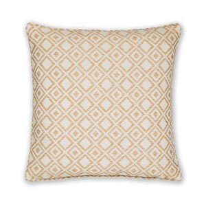 Diamond Jacquard Natural Cushion 45cm x 45cm