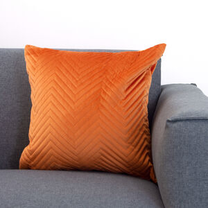Triangle Stitch Orange Cushion 58x58cm