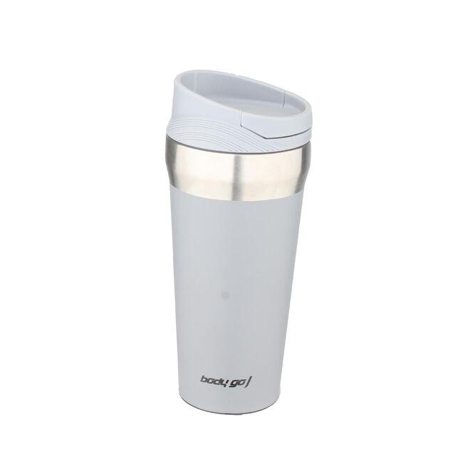 Bodygo Grey 380ml Travel Mug with Suction Bottom
