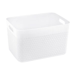 Waffle 18L Storage Container w/o Lid White