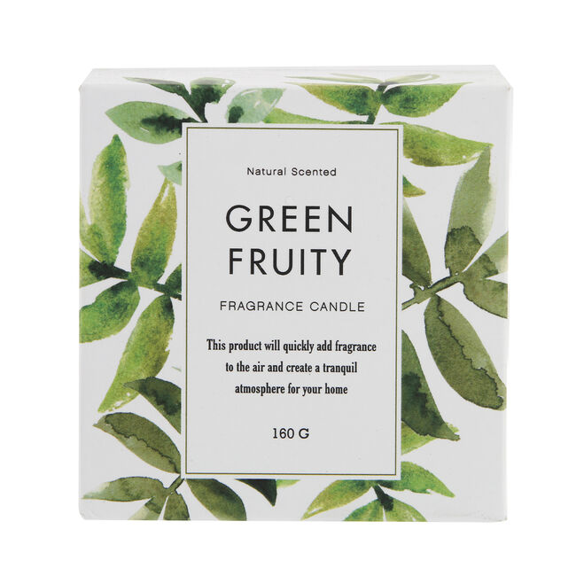 Green Fruity Scented Candle