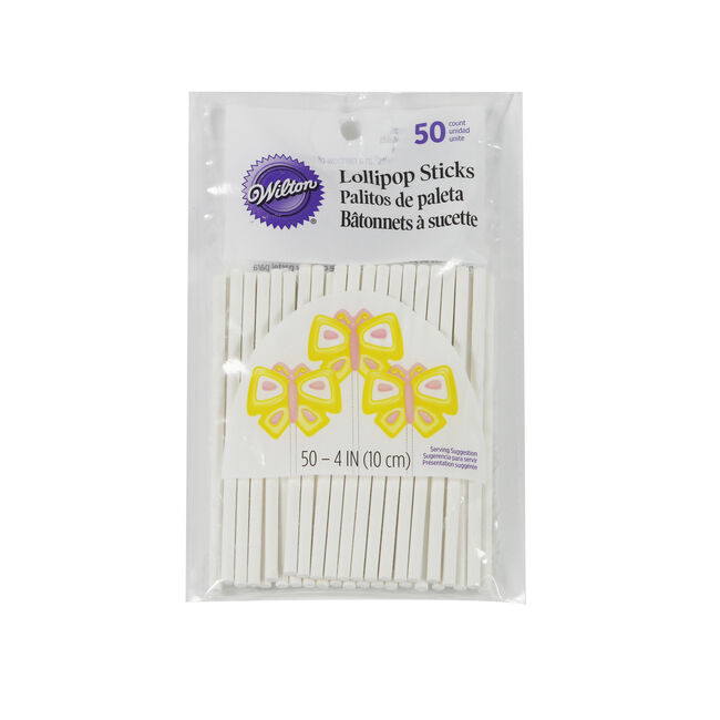 Wilton Lollipop Sticks 50Pk