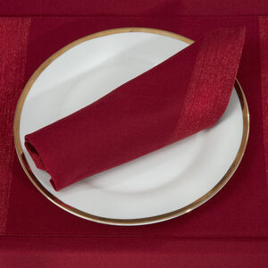 Shimmer Trim Red Napkins 4PK