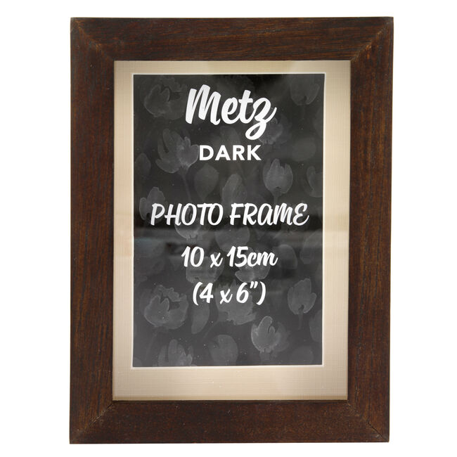 Metz Dark Photo Frame 4x6""