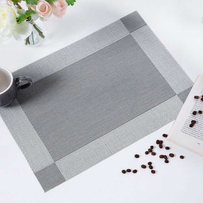 Netted Oxford Placemat - Silver