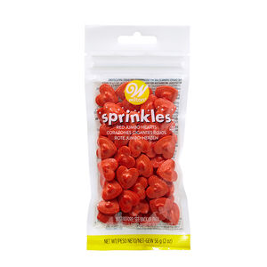 Wilton Sprinkles Jumbo Hearts - Red