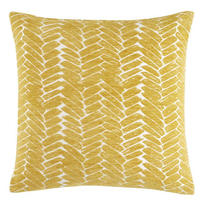 Night Peacock Cushion 58x58cm - Ochre
