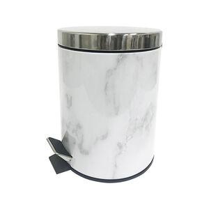 White Marble Effect Bin 3L