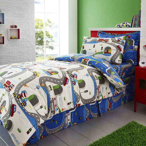 JUNIOR BED DUVET COVER Beep Beep