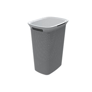 Ezy Mode Grey Laundry Hamper 57L