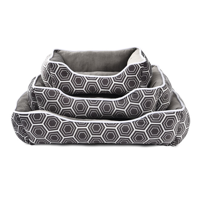 Printed Plush Medium Pet Bed