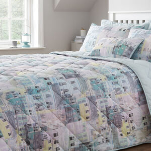 Houses Bedspread 200x220cm