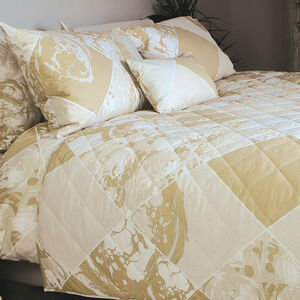 Marble Tile Natural Bedspread 200cm x 220cm