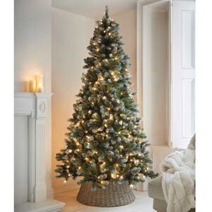 7.5Ft Frosted Pine Cone Christmas Tree