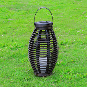 Small Palermo Rattan Solar Lantern