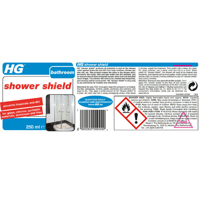 HG Shower Shield Protector 250ml