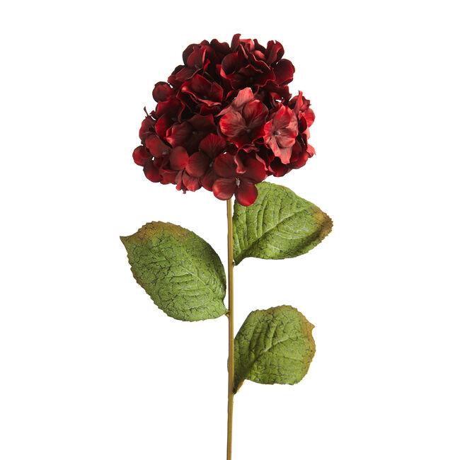 Hydrangea Spray Stem Flower Red 74CM