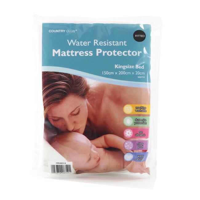 WATER RESISTANT KS Mattress Protector