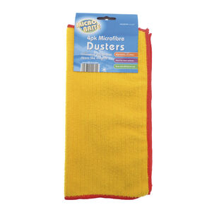 Microfibre 4pk Yellow Dusters
