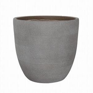 Large Inca Fibre Clay Pot - Taupe