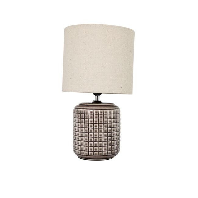 Opio Glazed Table Lamp Taupe