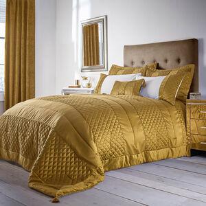 Classic Velvet Gold Bedspread 240cm x 260cm