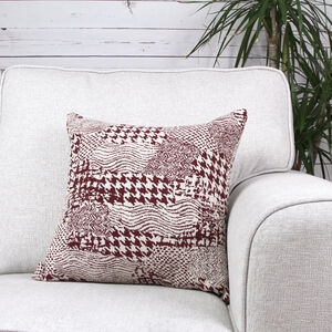 Alexa Patchwork Cushion Cover 45x45cm - Berry