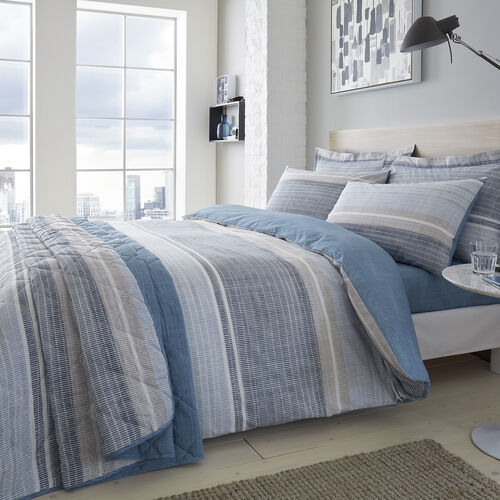 SINGLE DUVET COVER Sam Stripe Blue