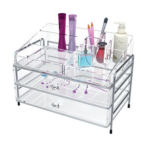 Clear Cosmetic Organiser 2 Drawer