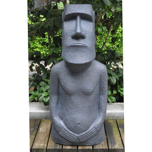Easter Island Fibre Clay Statue