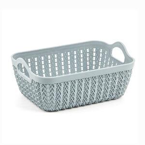 Knit Mint Rectangle Storage Tray 19x14cm