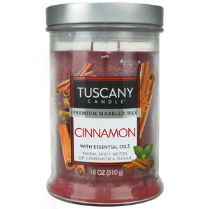 Tuscany 18oz Double Wick Candle Cinnamon