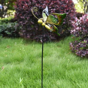 Stained Glass Butterfly Garden Stake