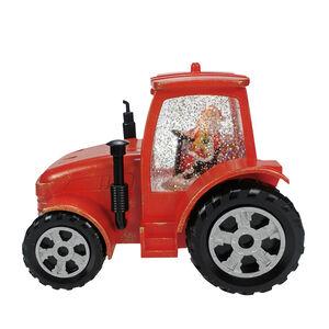Light Up Swirling Glitter Santa Tractor