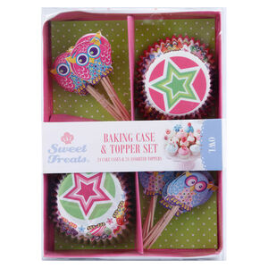 Owl 48 Piece Cake Case & Toppers Set