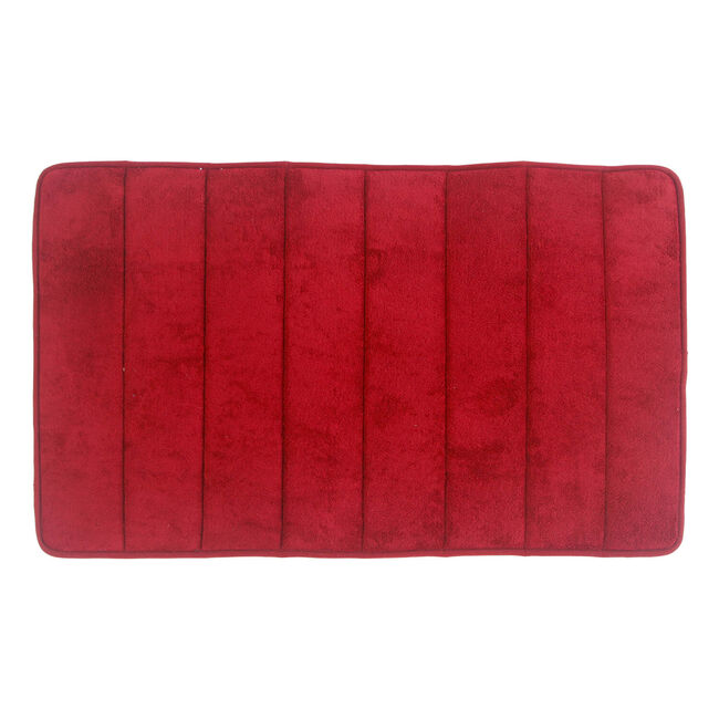 Memory Foam Bath Mat Red 50cm x 80cm