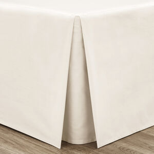 SINGLE PLATFORM VALANCE Luxury Percale Cream