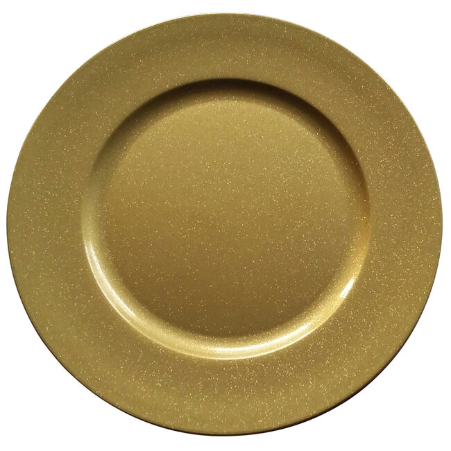Round Glitter Charger Plate