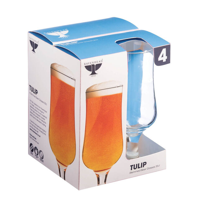 Tulip Stemmed Beer Glasses 4 Pack